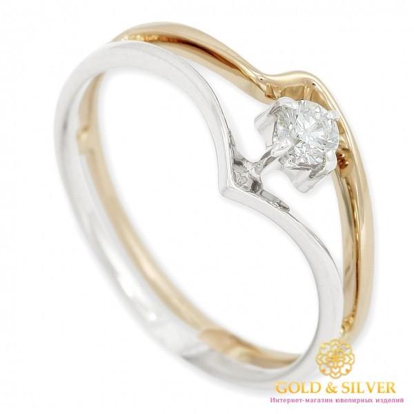 Золотое кольцо 585 проба. Кольцо с красного и белого золота с Бриллиантом. 10190 , Gold &amp Silver Gold & Silver, Украина