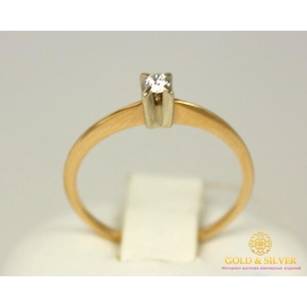 Золотое кольцо 585 проба. Кольцо с красного золота с вставкой Бриллиант. 10290 , Gold & Silver Gold & Silver, Украина