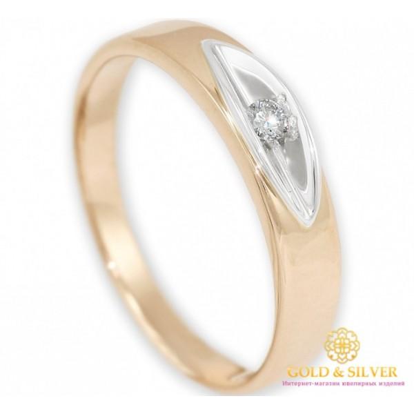 Золотое кольцо 585 проба. Обручальное Кольцо  с красного и белого золота с вставкой бриллианта.10820 , Gold & Silver Gold & Silver, Украина