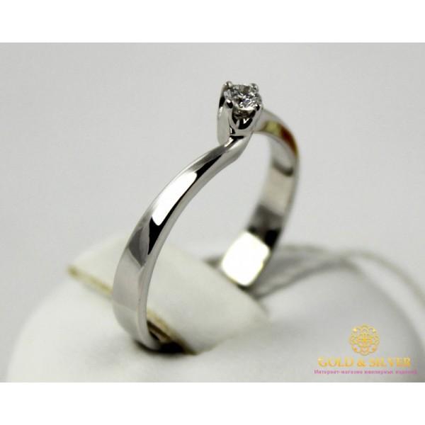 Золотое кольцо 585 проба. Кольцо Женское кольцо с белого золота с вставкой Бриллиант. 11149 , Gold & Silver Gold & Silver, Украина