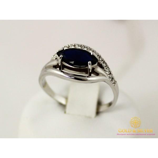 Золотое Кольцо 585 проба. Золотое кольцо альбина с белого золота 585 проба с вставкой сапфир. 11156 , Gold & Silver Gold & Silver, Украина