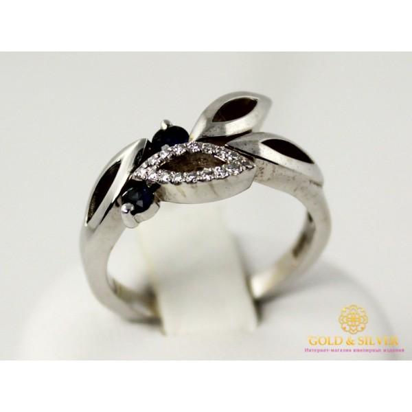 Золотое Кольцо 585 проба. Кольцо женское с белого золота с вставкой сапфир. 11195  , Gold &amp Silver Gold & Silver, Украина