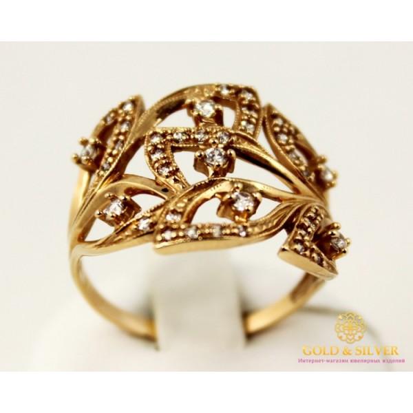 Золотое кольцо 585 проба. Женское Кольцо с красного золота, с вставкой Фианит 11234 , Gold &amp Silver Gold & Silver, Украина