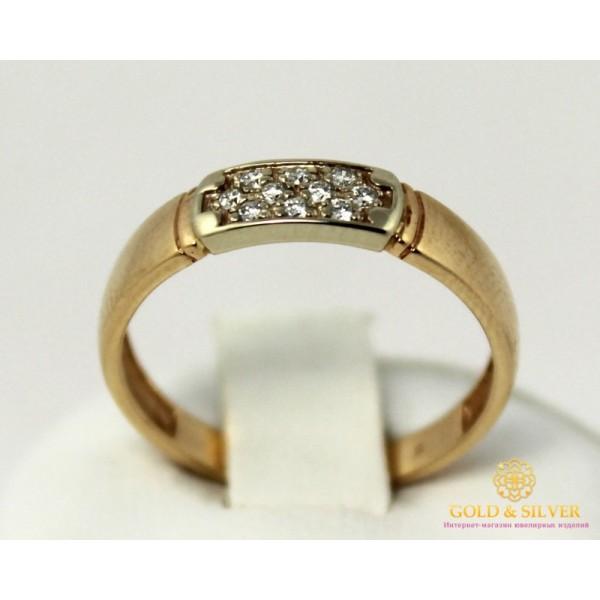 Золотое кольцо 585 проба. Женское Кольцо с красного и белого золота с вставкой Бриллиант. 12750 , Gold & Silver Gold & Silver, Украина