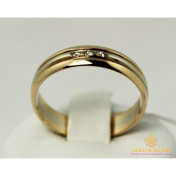 Золотое кольцо 585 проба. Кольцо с красного и  белого золота, с вставкой Бриллиант. 12770 , Gold & Silver Gold & Silver, Украина