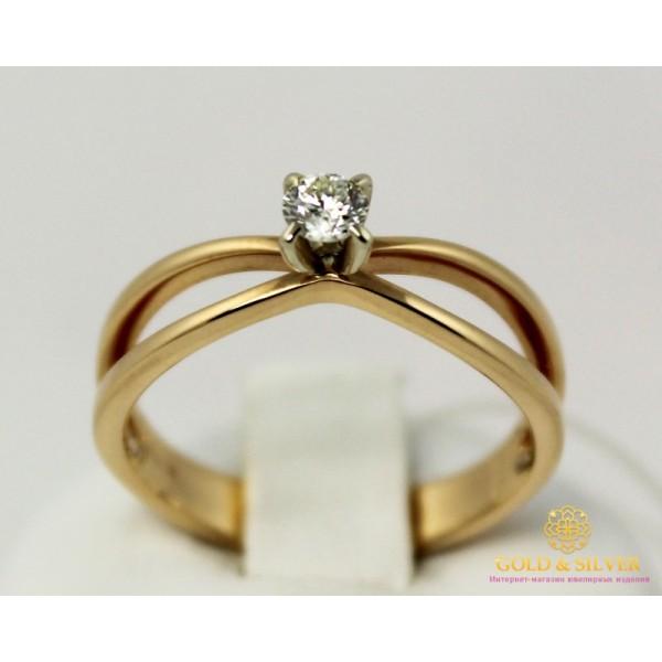 Золотое кольцо 585 проба. Кольцо с красного и белого золота, с вставкой Бриллиант. 13080 , Gold &amp Silver Gold & Silver, Украина