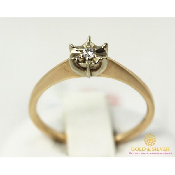 Золотое кольцо 585 проба. Кольцо с красного и белого золота с вставками Бриллиант. 14150 , Gold & Silver Gold & Silver, Украина