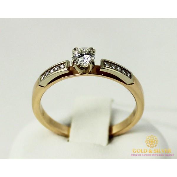 Золотое кольцо 585 проба. Кольцо с красного и белого золота, с вставками бриллиант. 14540 , Gold & Silver Gold & Silver, Украина
