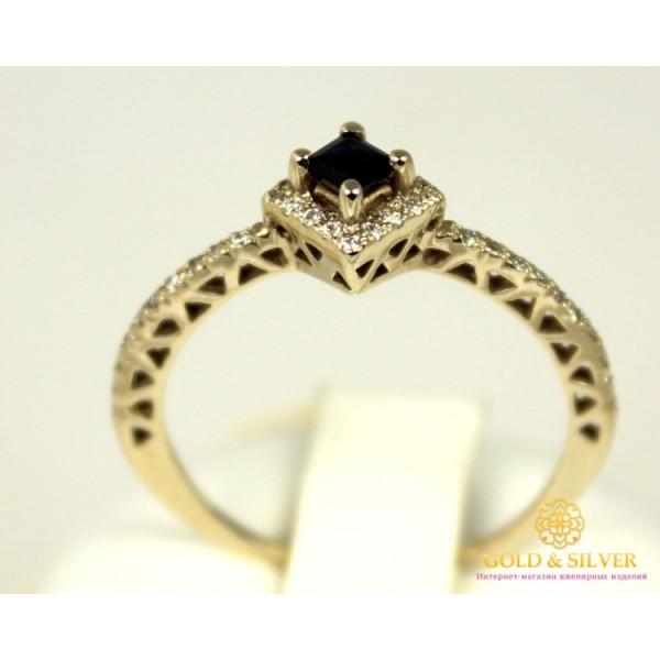 Золотое Кольцо 585 проба. Женское кольцо с белого золота с вставкой Сапфир и Бриллиант 741616 , Gold &amp Silver Gold & Silver, Украина