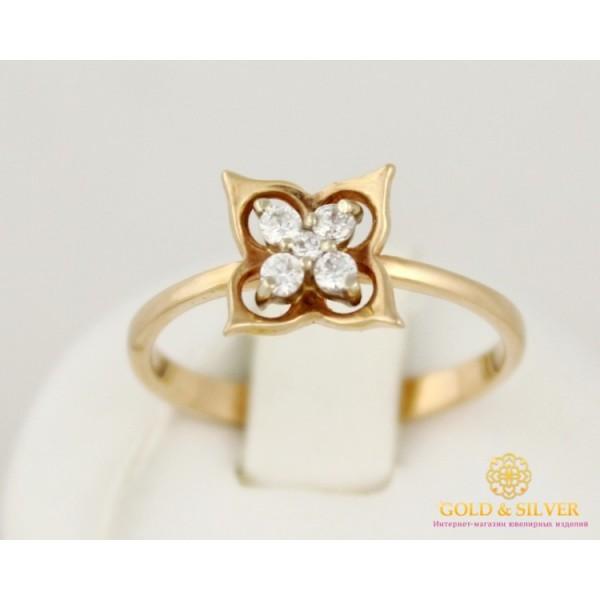 Золотое кольцо 585 проба. Женское Кольцо Цветочек с красного золота. kv183k , Gold &amp Silver Gold & Silver, Украина