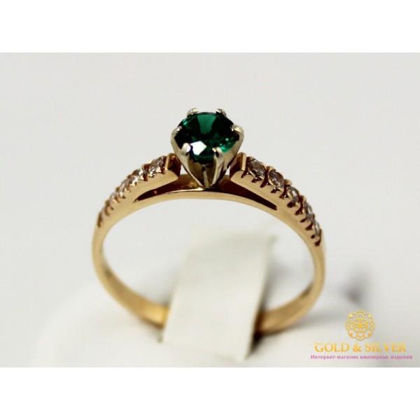 Золотое кольцо 585 проба. Кольцо женское с красного золота и вставкой Изумруд. kv338n , Gold & Silver Gold & Silver, Украина