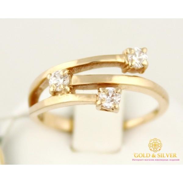Золотое кольцо 585 проба. Женское Кольцо кливен 3,51 грамма kv853k , Gold & Silver Gold & Silver, Украина