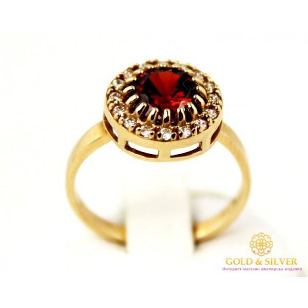 Золотое кольцо 585 проба. Женское Кольцо с красного золота с вставкой красного камня. kv1353 , Gold & Silver Gold & Silver, Украина