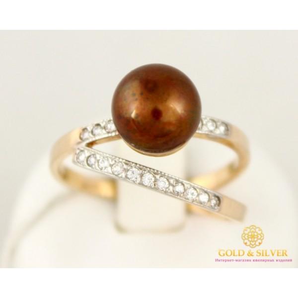 Золотое кольцо 585 проба. Женское Кольцо с красного золота, с вставкой Жемчужиной. kv54402 , Gold & Silver Gold & Silver, Украина