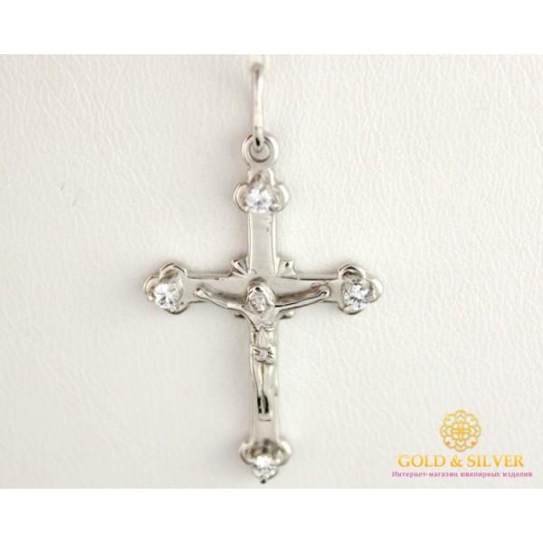 Золотой Крест 585 проба. Крест женский с белого золота 5741700 , Gold & Silver Gold & Silver, Украина