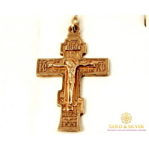 Золотой Крест 585 проба. Крест с красного золота. 8040347 , Gold & Silver Gold & Silver, Украина
