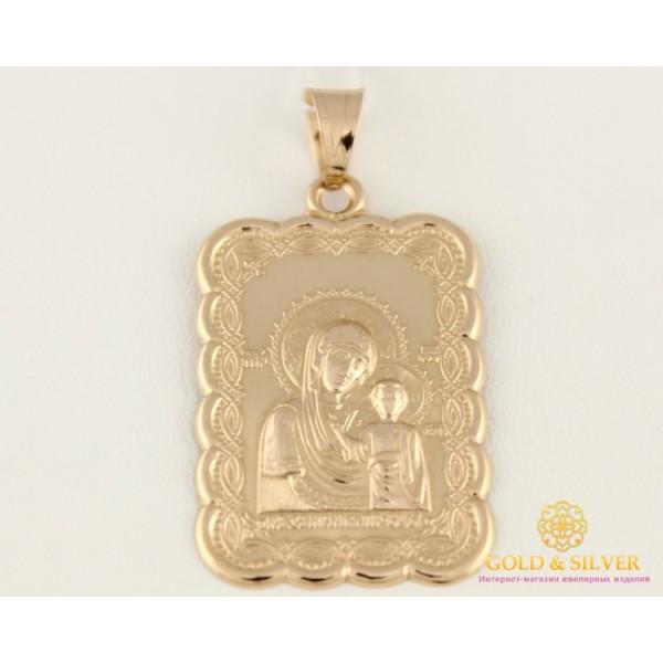 Золотая Нательная Икона 585 проба. Подвес с красного золота, Божья Матерь 100530 , Gold & Silver Gold & Silver, Украина