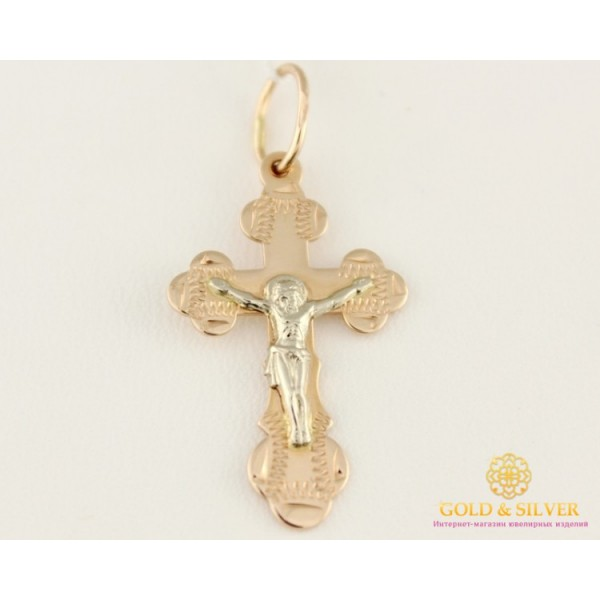 Золотой Крест красное и белое золото 235015 , Gold &amp Silver Gold & Silver, Украина