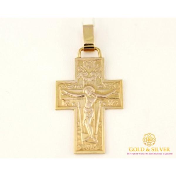 Золотой Крест 585 проба. Крест с желтого золота. 8048280 , Gold & Silver Gold & Silver, Украина