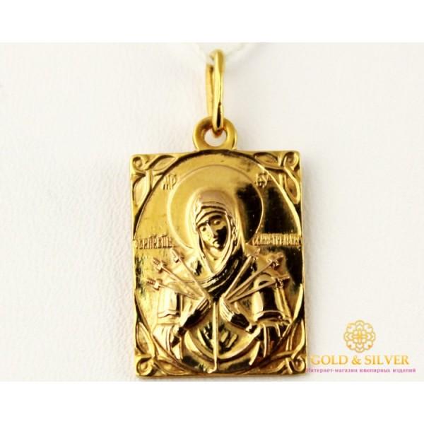 Золотая нательная Икона 585 проба. Подвес с красного золота, Божья Матерь Семистрельная 8048500 , Gold & Silver Gold & Silver, Украина