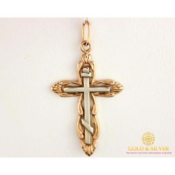 Золотой Крест Красное и Белое Золото 8049610 , Gold &amp Silver Gold & Silver, Украина
