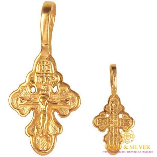 Золотой Крест 585 проба. Крестик детский kp002i , Gold & Silver Gold & Silver, Украина