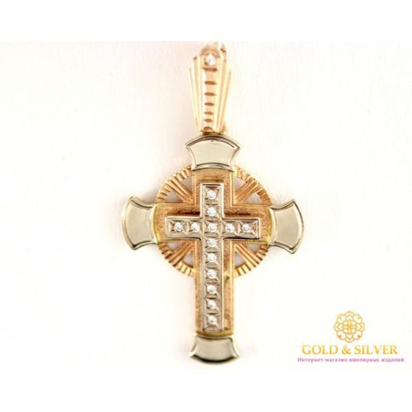 Золотой крест 585 проба. Новгородский Крест Красное Белое Золото kp050i , Gold &amp Silver Gold & Silver, Украина