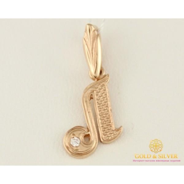 Золотой Кулон 585 проба. Подвес с красного золота. буква 'Л' pv001i , Gold & Silver Gold & Silver, Украина