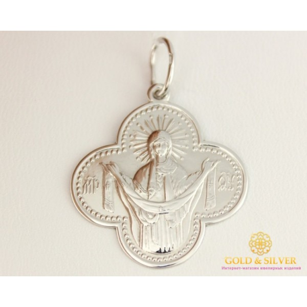 Серебряная Нательная Икона 100003c , Gold & Silver Gold & Silver, Украина