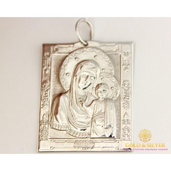 Серебряная Нательная Икона Божья Матерь 100035с , Gold & Silver Gold & Silver, Украина