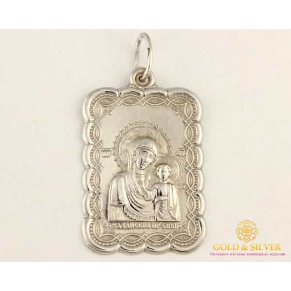 Серебряный Подвес Икона Божья Матерь 100530c , Gold &amp Silver Gold & Silver, Украина