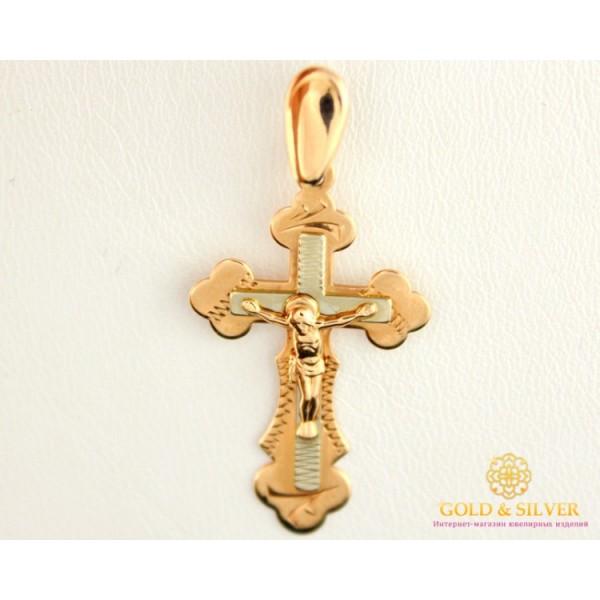 Золотой Крест 585 проба. Крест Красное Белое золото 210042 , Gold & Silver Gold & Silver, Украина