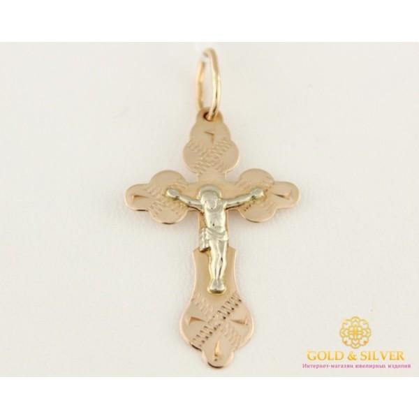Золотой Крест 585 проба. Крестик Красное и Белое золото 230005 , Gold & Silver Gold & Silver, Украина