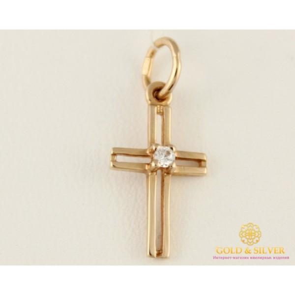 Золотой Крест Фианит 260001 , Gold & Silver Gold & Silver, Украина