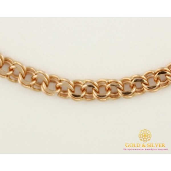 Золотая Цепь 585 проба. Цепочка Бисмарк с красного золота, 50 сантиметров. 50115050041n , Gold &amp Silver Gold & Silver, Украина