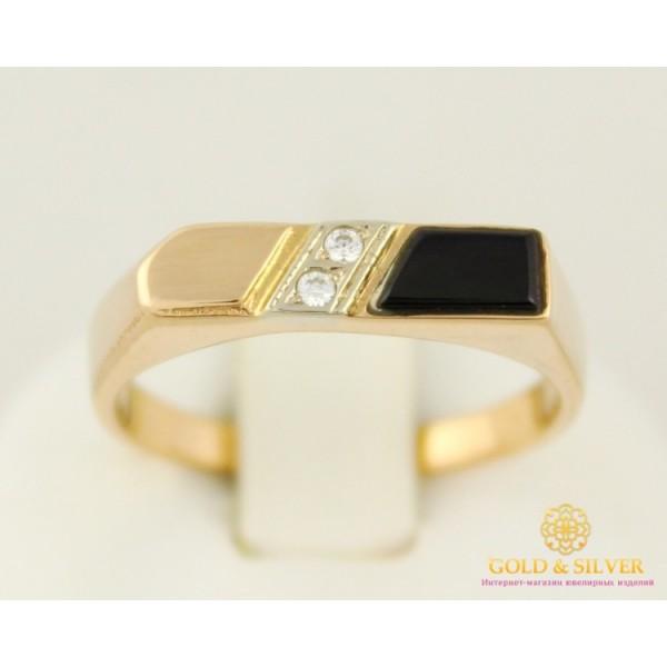 Золотое кольцо 585 проба. Мужское кольцо с красного золота. 3,62 грамма pch021i , Gold & Silver Gold & Silver, Украина