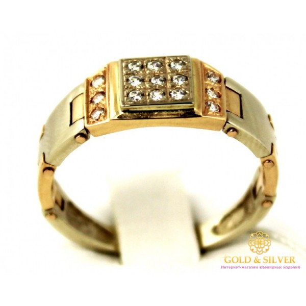 Золотое кольцо 585 проба. Мужское Кольцо с красного золота, pch032i , Gold &amp Silver Gold & Silver, Украина
