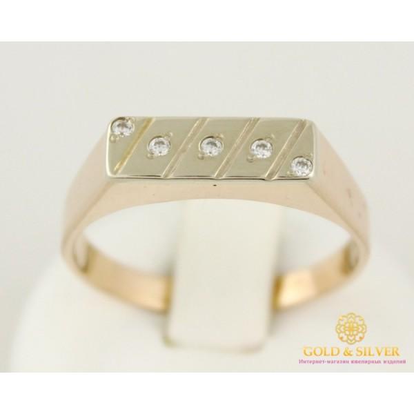 Золотое кольцо 585 проба. Мужское кольцо с красного и белого золота. 5120132 , Gold &amp Silver Gold & Silver, Украина