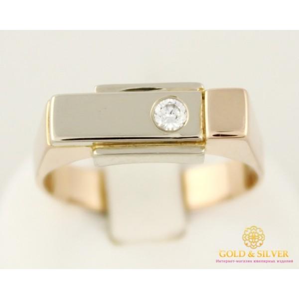 Золотое кольцо 585 проба. Мужское кольцо с красного и белого золота. 7,15 грамма. 330504 , Gold & Silver Gold & Silver, Украина