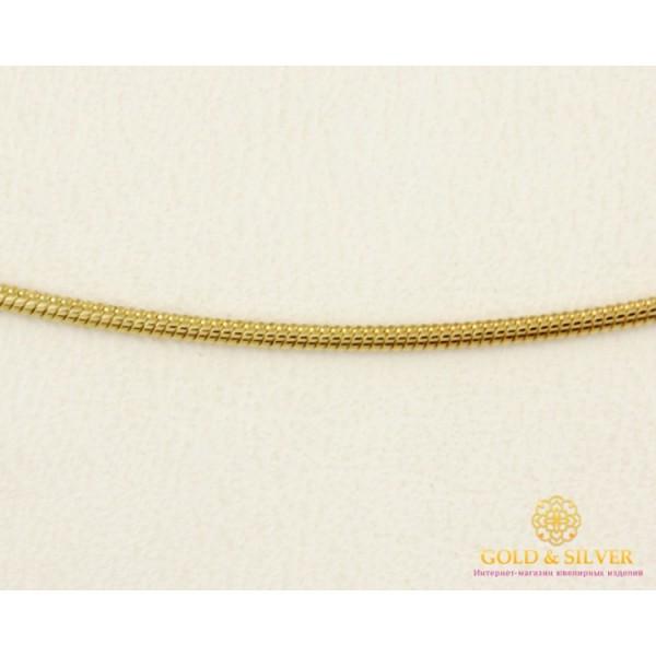 Золотая Цепь 585 проба. Цепочка с красного золота, плетение Снейк (жгут), 45 сантиметров. 6013110303 , Gold & Silver Gold & Silver, Украина