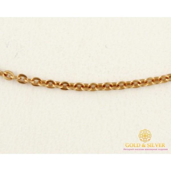 Золотая Цепь 585 проба. Женская цепочка бельцер плоский, с красного золота, 45 сантиметров. 804001 , Gold &amp Silver Gold & Silver, Украина