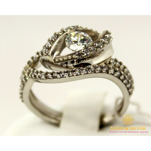 Серебряное кольцо 925 проба. Женское серебряное Кольцо Парис 15689r , Gold &amp Silver Gold & Silver, Украина