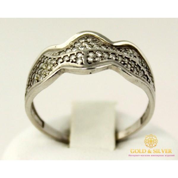 Серебряное кольцо 925 проба. Женское серебряное Кольцо Волна 15859r , Gold &amp Silver Gold & Silver, Украина