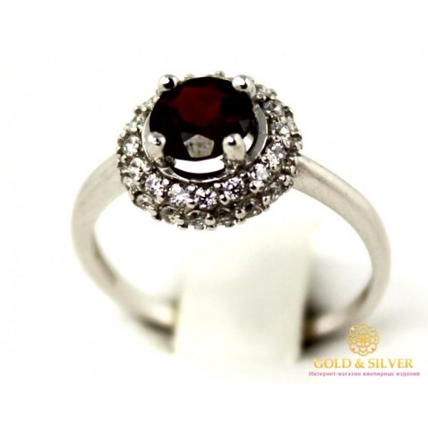 Серебряное кольцо 925 проба. Женское серебряное Кольцо Аля с вставкой Гранат 15819r , Gold & Silver Gold & Silver, Украина
