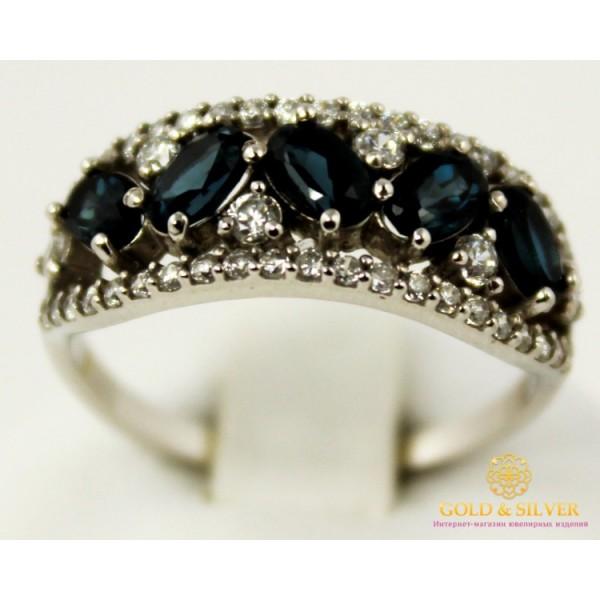 Серебряное кольцо 925 проба. Женское серебряное Кольцо Лолита с вставкой  Лондон Топаз 16019r , Gold & Silver Gold & Silver, Украина