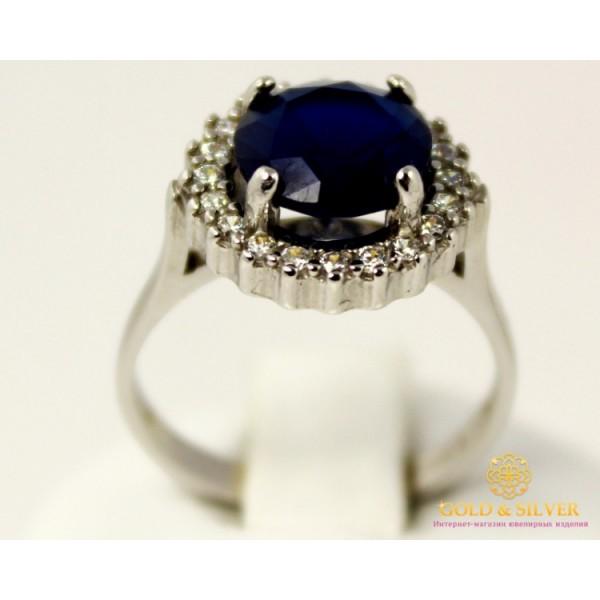 Серебряное кольцо 925 проба. Женское Кольцо корунд (искусствено  выращенный) Сапфир. 1824sp , Gold & Silver Gold & Silver, Украина