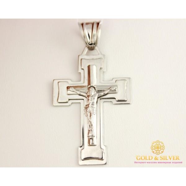 Серебряный Крест 925 проба. Православный серебряный крест, широкий. 210056с , Gold & Silver Gold & Silver, Украина