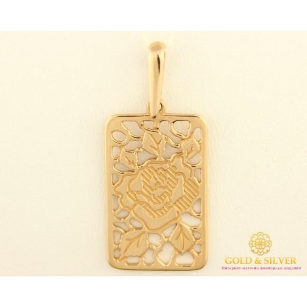Золотой Кулон 585 проба. Подвес с красного золота, Роза pb601i , Gold & Silver Gold & Silver, Украина