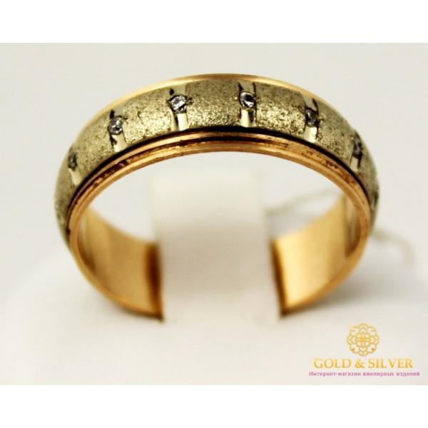 Золотое кольцо 585 проба. Обручальное Кольцо с красного и белого золота 15 камней. ok053 , Gold &amp Silver Gold & Silver, Украина