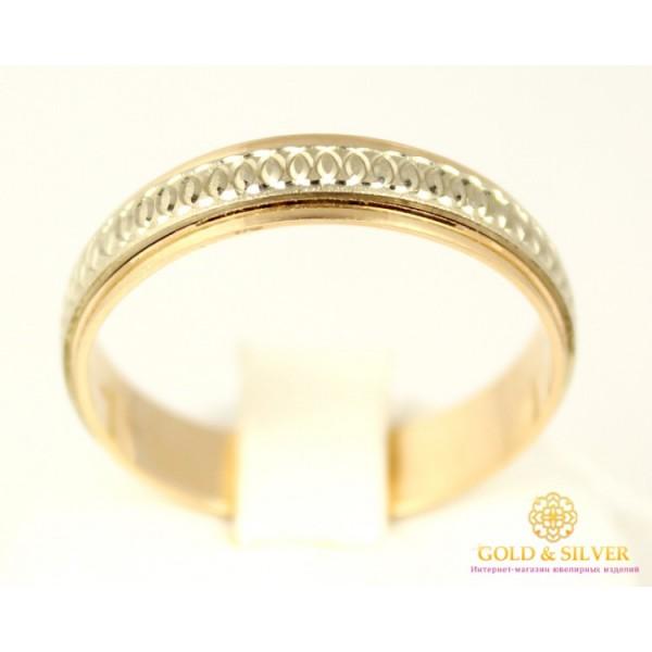Золотое обручальное кольцо 585 проба. Обручальное Кольцо с красного и белого золота, ok056 , Gold & Silver Gold & Silver, Украина